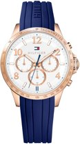 Tommy Hilfiger TH1781645 horloge dames - blauw - edelstaal PVD ros�