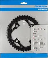 Shimano Trekking FC-T521 kettingblad AE 10-speed zwart Uitvoering 44 tanden