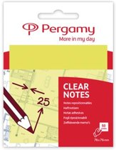 Pergamy transparante notes, ft 76 x 76 mm, 50 vel, geel