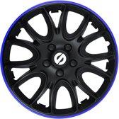 Sparco Wieldoppen Veneto 15 Inch Abs Zwart/blauw Set Van 4