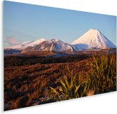 Vulkaan in het Nationaal park Tongariro in Nieuw-Zeeland Plexiglas 60x40 cm - Foto print op Glas (Plexiglas wanddecoratie)