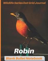 Robin Wildlife Series Dot Grid Journal Blank Bullet Notebook