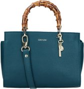 LouLou Essentiels Handtas Bag Bamboo Beau Veau Gold Colored Blauw