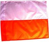Piri Sport Cornervlag 30 Mm 46 X 40 Cm Oranje/wit