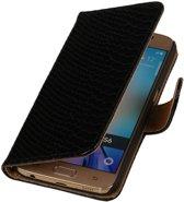 Samsung Galaxy J3 J300F Zwart | Snake bookstyle / book case/ wallet case Hoes  | WN™