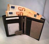 Tepassa / Lederen heren portemonnee ( hoge billfold ) - Zwart / Grijs
