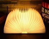 Parya Led Book Tafellamp - Donker Licht - Led Boek - Bruin