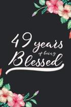 Blessed 49th Birthday Journal