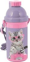 Studio Pets - Drinkbeker 500 ml Kat met bril - Roze