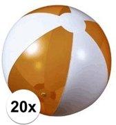 20x Opblaasbare strandbal oranje - 30 cm - strandballen