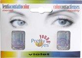 Pretty Eyes kleurlenzen - paars - 2 stuks - maandlenzen