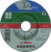 Bosch afbraamschijven set - Voor metaal - 115 x 6 mm - gebogen - 5 stuks