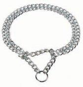 Duvo+ Halsband Slip dubbele ketting - Chrome - 2,5mm x 55cm
