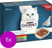 Gourmet Perle Sauce Delight - Vlees & Vis - Kattenvoer - 5 x (8 x 85 g)