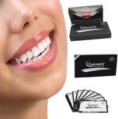 LuxSmile Charcoal tandenbleekstrips voor stralend witte tanden - Whitening Strips - 2 Weken / 28 strips