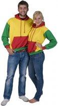 Rood, geel en groene sweater M