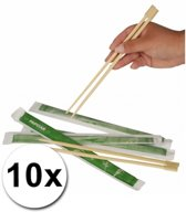 Eetstokjes - Bamboe - Bruin - 10 Stuks