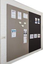 Prikbordwand frameless, paneel bulletin 200x120 cm