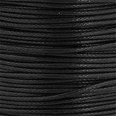 Waxkoord ( katoen ) - 2.50 Meter - Kleur Zwart - Sieraden Maken