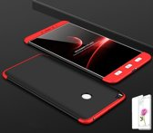 Teleplus Xiaomi Mi Max 2 360 Full Protected Cover Red Black + Glass Screen Protector