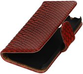 Samsung Galaxy J1 mini (2016) J105F Rood | Snake bookstyle / book case/ wallet case Hoes  | WN™