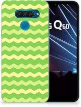 TPU bumper LG Q60 Waves Green