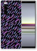 TPU bumper Sony Xperia 5 Feathers Color