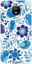 Motorola Moto G5S Hoesje Blue Bird and Flowers