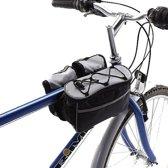 Fietstas stuur - Stuur tas - Fiets tas - Zwart - Grijs - Waterdicht - Universeel - Clip sluitingen