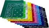 Paisley Bandana's 12 stuks - Paisley Boeren Zakdoek Sport Accessoires - Bandana 12 kleuren