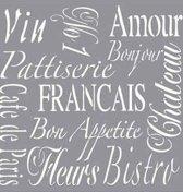 Verfsjabloon French Living