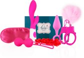 EasyToys Luxe Erotische Cadeauset - Bekend van de Huishoudbeurs - 7 Verschillende Seksspeeltjes - Roze