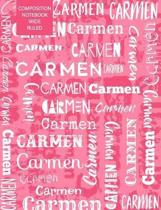Carmen Composition Notebook Wide Ruled