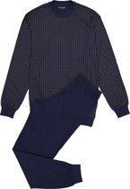 Schiesser heren pyjama - blauw dessin -  Maat XL