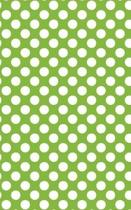Polka Dots - Lime Green 101 - Lined Notebook with Margins 5x8