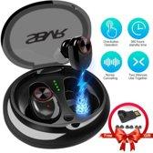 SBVR V5 Draadloze bluetooth in ear sport oortjes headset - Zweetbestendig - Zwart