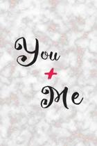 You + Me: Marriage Notebook Journal Composition Blank Lined Diary Notepad 120 Pages Paperback Marble