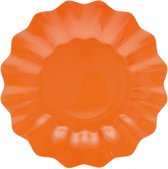 8x Oranje diepe bordjes 21 cm