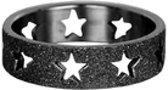 iXXXi Vulring Sandblasted ster zwart 6mm - maat 18