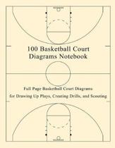 100 Basketball Court Diagrams Notebook