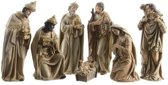 7-delige kerststal figuren beeldjes 7 cm - kerstbeeldjes