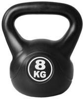 ScSports - Kettlebell - Cement vulling - 8 kg - Zwart