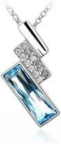 Elegante ketting kristal - blauw