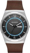 Skagen Melbye SKW6305 - Horloge - Leer - Bruin - 40 mm