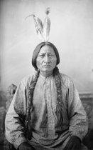 Native American - Glas schilderij