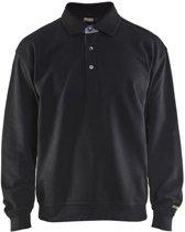 Blåkläder 3370-1158 Polo Sweatshirt Zwart maat M