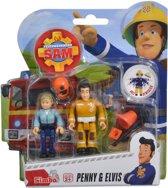 Brandweerman Sam Speelfiguren - Elvis en Penny