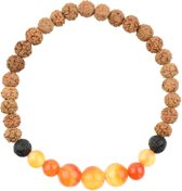 Zuben Carneool Oranje Mala Armband M | 19 cm