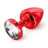 Diogol Anni Butt Plug Rond - Rood - 25 mm