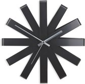 Umbra Ribbon Wandklok - zwart - Ø 30.5 cm